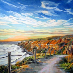 Ocean Trails Sunset, Karen Wickham