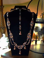 #3109/3911 copper w/sea shell beads, Krisjan Klenow