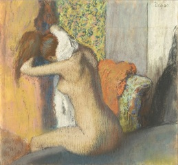 Woman drying her neck, after her bath,Edgar Degas