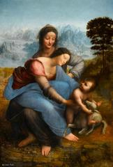La Vierge a l\'Enfant avec Sainte Anne, Leonardo da Vinci