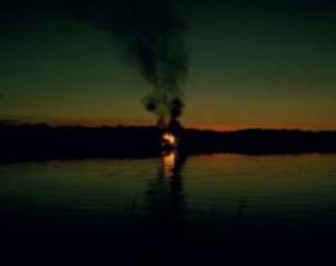 Burning House (August, daybreak), Carrie Schneider