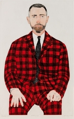 Checkered Suit,Beth Van Hoesen
