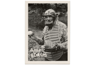 Ansel Adams, from The Baseball-Photographer Trading Cards series, Mike Mandel
