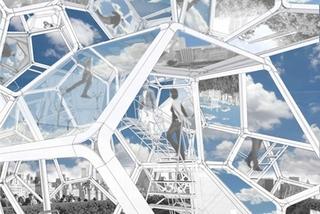 Artist\'s conceptual montage, Tomás Saraceno