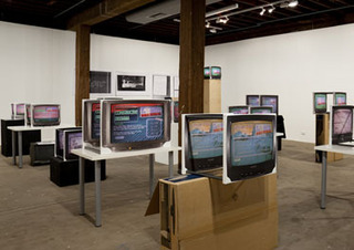 Introductory Logic Video Tutorial, installation view, Artspace Sydney, Simon Denny