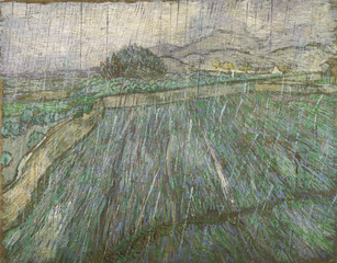 Rain,Vincent Van Gogh