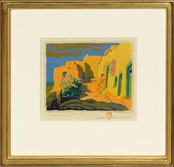 Old Santa Fe, Gustave Baumann