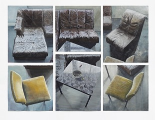 five chairs, one table, Arjan van Helmond