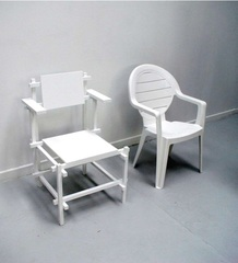 "two chairs"" Zwei Stühle,Mathieu Mercier"