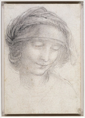 Etude pour la tête de sainte Anne., Leonardo da Vinci