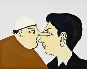 Self-portrait With De Chirico , Joshua Abelow