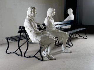 Three People on 4 Benches,George Segal
