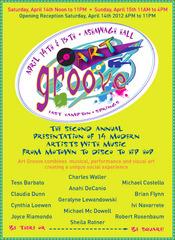 ART GROOVE 2012 INVITATION - ASHAWAGH HALL - EAST HAMPTON, Anahi DeCanio