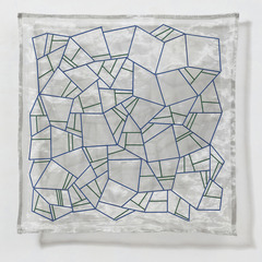 Geometry of Hope: Cobalt, Emerald, Jeanne Heifetz