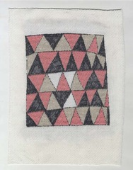 Triangles in Pink, Black, and Tan,