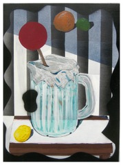 I Had a Vague Idea for This Painting; Still Life With Assorted Citrus, NYC Style Pitcher of Water, and A Big Red Swizzle Stir, mike erickson