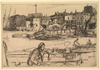 Black Lion Wharf, James Abbot McNeill Whistler