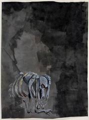 Skeleton of animal-man, tormented soul, Edgar Arceneaux