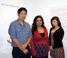 2011 Juror's prize recipients (L to R) Manuel Lopez, Elizabeth Rodriguez, Lizette Perez-Rivera,