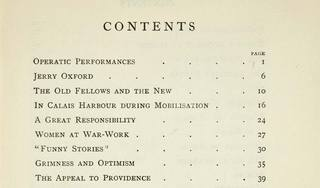 Contents page from Arnold Bennett\'s Things That Have Interested Me,