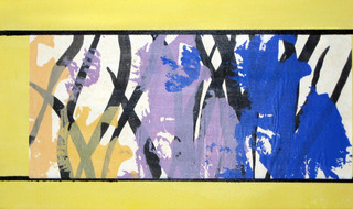 """Garden View #1"" detail, Bernice Faegenburg"