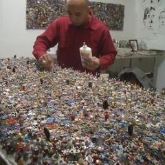 Ramekon in his studio,