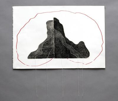 Ode_to_magellan_-_wood_block_print__serigraphy__stitching_-_22