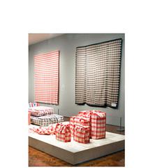 Coverlet from Pattern Migration (installation view), Stephanie Syjuco