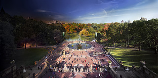 Bethesda Fountain Day To Night,Stephen Wilkes