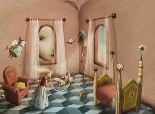 Illustration from The Girl in the Castle inside the Museum, Nicoletta Ceccoli