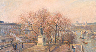 Statue d\'Henri IV, matin, soleil d\'hiver (Statue of Henri-VI, Morning, Winter Sunlight), Camille Pissarro