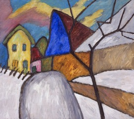 The Blue Gable, Gabriele Münter