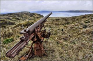 """Kiska: A WWII Battlefield Landscape """"silent guardian"""" ,"""