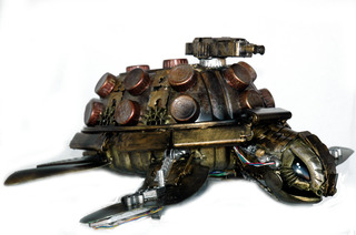 Steam-Punk Green Turtle,