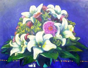 Ohne Titel (Blumenbild), Christoph Blawert