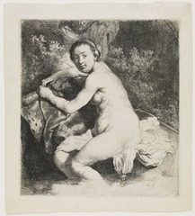 Diana at the Bath,Rembrandt van Rijn
