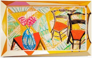 Walking Past Two Chairs, from the Moving Focus Series,David Hockney