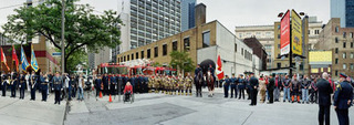 Corner of the Courageous, Repatriation Ceremony for Sergeant Martin Goudreault, Grenville St., Toronto, Ontario, June 9th, 2010, Scott McFarland