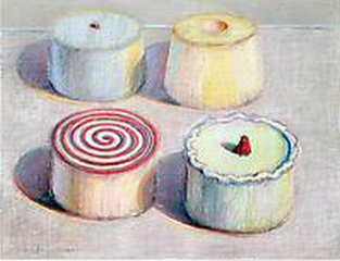 Four Cakes ,Wayne Thiebaud