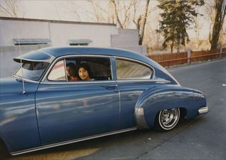 "Donaldo Valdez, El guique, '49 Chevy from ""The Lowriders, Portraits from New Mexico, Meridel Rubenstein"