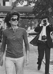 Jackie Onassis and Ron Galella on Madison Avenue ,Ron Galella