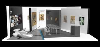 Galerie Gmurzynska booth at ART HK 12 designed by Zaha Hadid, Zaha Hadid