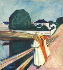 The Girls on the Bridge,Edvard Munch