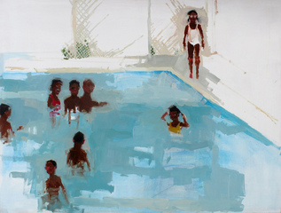 Orphans at Play (in pool), Jennie Ottinger