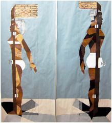 « Human Structure Casting Shadows pair » , Derrick Adams