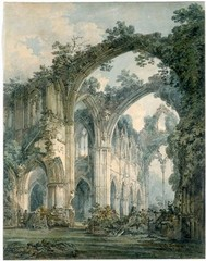 Inside Tintern Abbey, Monmouthshire ,Joseph Mallord William Turner