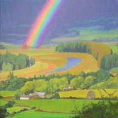 Rainbow and oxbow, Dunbartonshire, Tom Henderson Smith
