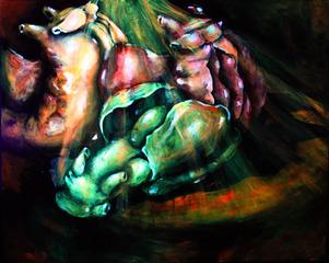 Like Bunnies (Sea Hare Mating Chain), Lily Simonson