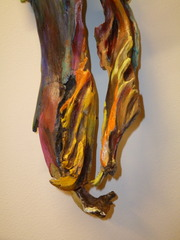 Painted Wood (detail), Mimi Peterson