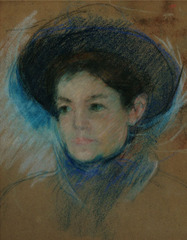Portrait of Mathilde Valet,Mary Cassatt